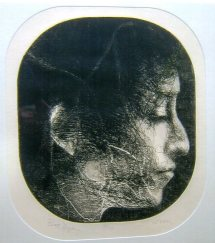 'Bob Dylan' etching by Charles Wells
