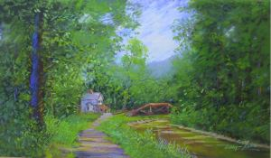 Bucks County Delaware Canal Landscape by Sandy Askey-Adams
