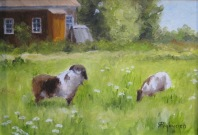 Ron Prybycien Goats in the Garden